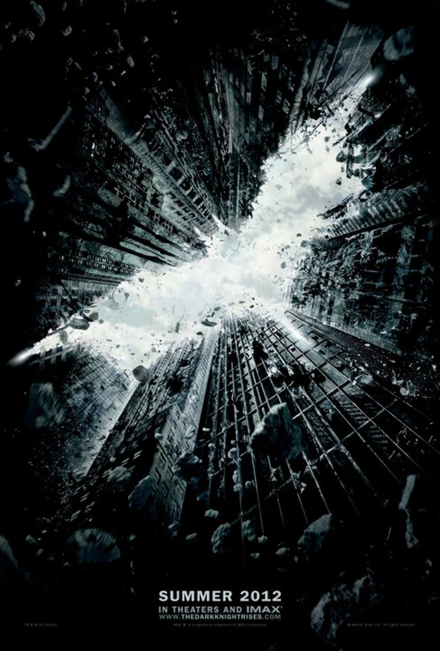 Movie poster from the 'The Dark Knight Rises' Facebook page