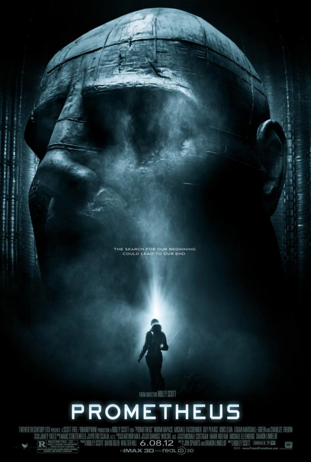 Movie poster from the 'Prometheus' Facebook page