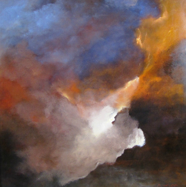 'Gathering Fury,' 2008, oil on canvas