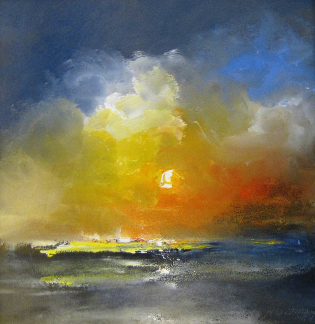 'Impressions of the Sun,' 2011, oil on canvas