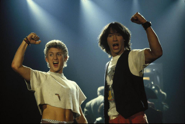 WHAT DID YOU SAY? Even with a time machine, it would take Bill and Ted forever to learn all the new slang words. Photo from 'Bill &amp; Ted's Excellent Adventure' Facebook page