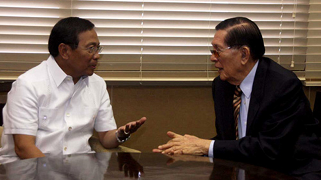 'OFFICIAL USE.' Vice President Jejomar Binay defends his ally Senate President Juan Ponce Enrile, saying the funds he gave to 18 senators is for official use and subject to audit. File photo by Albert Calvelo/Senate PRIB