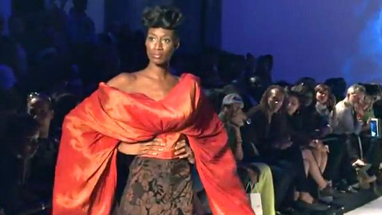 A SCREEN GRAB FROM a 'Paris Black Fashion Week' video on YouTube (AFP)