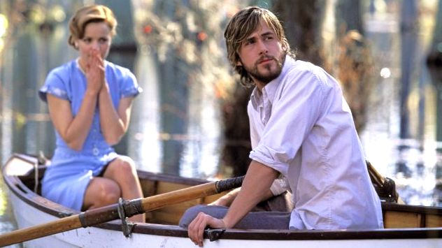 RACHEL McADAMS AND RYAN Gosling in a scene from 'The Notebook' shot at Boone Hall Plantation. Image from IMDb/New Line Cinema