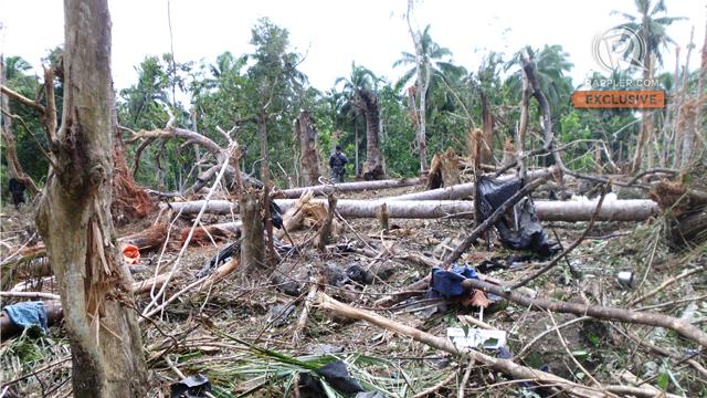 BLAST SITE. Sitio Lanao Bato, Sulu. Picture taken at 12:12pm on February 2, 2012
