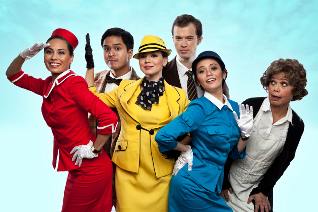 HAVE A LAUGH. Catch 'Boeing Boeing' until February 17. Photo courtesy of Repertory Philippines