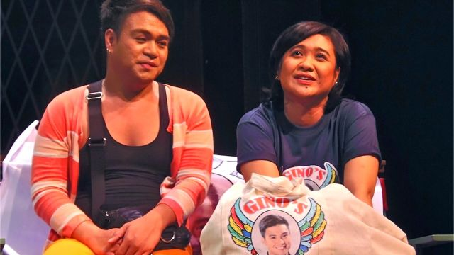 EUGENE DOMINGO AS BONA with her BFF. All photos by Dennis Sebastian