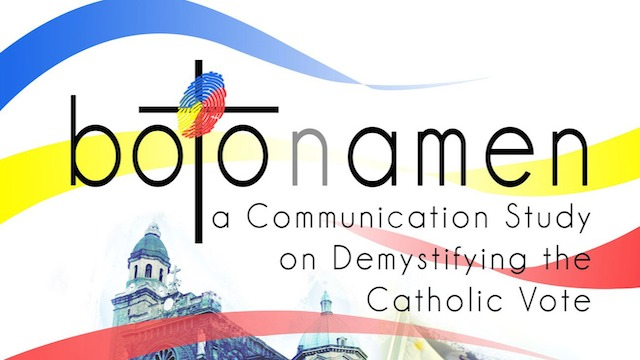 BOTO nAMEN: Demystifying the Catholic Vote