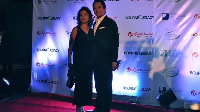 PHILEX MINING's MIKE TOLEDO and wife