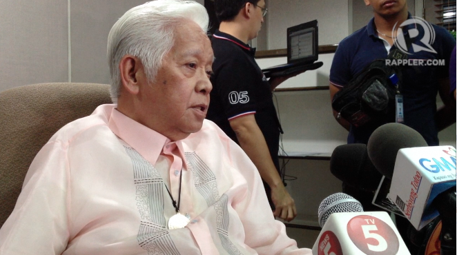 'TOTAL REVISION.' Comelec Chair Sixto Brillantes Jr wants an amended Party-List Law to define 'marginalized and underrepresented' groups. File photo by Paterno Esmaquel II