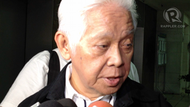 'SUE US.' Comelec Chair Sixto Brillantes Jr says Supreme Court cases could clarify the Party-List Law. File photo by Paterno Esmaquel II