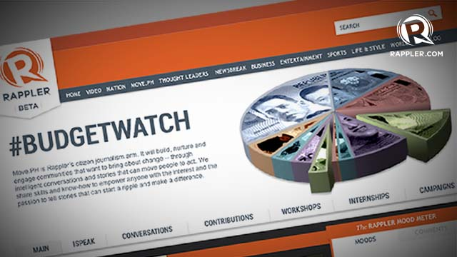 #BUDGETWATCH MICROSITE. Rappler's MovePH will soon launch #BudgetWatch. Photo is not the actual lay-out.