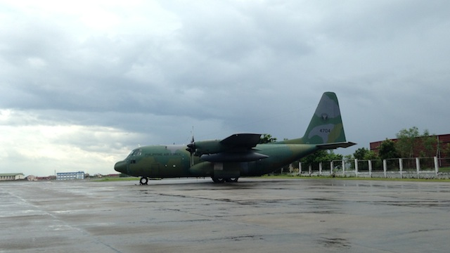 HUMANITARIAN AID: Two military C-130 cargo planes fly to Tacloban City on Saturday. File photo