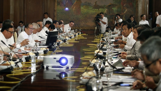 . President Benigno Aquino III gives specific orders to his Cabinet