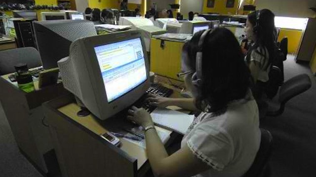 TOP 3. Manila improves its ranking in the Top 100 Global Outsourcing Destinations report of investment advisory firm Tholons. AFP Photo