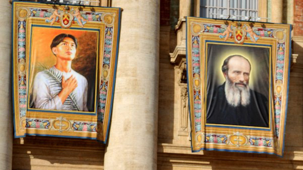 SECOND SAINT. Pope Benedict XVI canonizes Pedro Calungsod, the second Filipino saint, in a solemn ritual at the Vatican City on Sunday. Photo from AFP