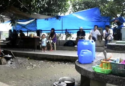 PROTEST. PUP janitors who were terminated set up a protest camp in the hope of being reinstated.