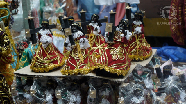 FOR SALE. Vendors in Quiapo prepare themselves for crowds during the Black Nazarene. Photo by Devon Wong