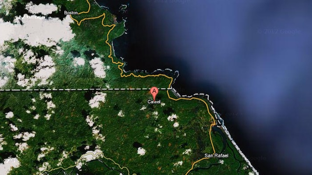 ANOTHER 'PABLO' TRAGEDY. Google Maps image of Cateel, Davao Oriental