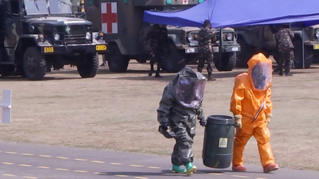 NEW UNIT FOR NEW THREATS: Members of the military's CBRNE unit. Photo by Carmela Fonbuena/Rappler.com