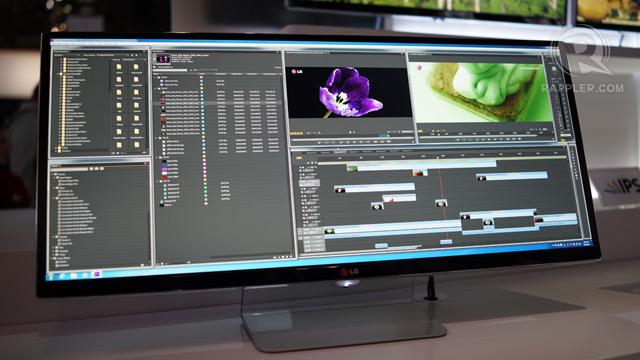 LG 4K monitor, 21:9 UltraWide QHD monitor hands-on