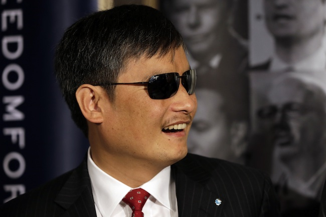 Blind Chinese activist Chen due to arrive in Taiwan
