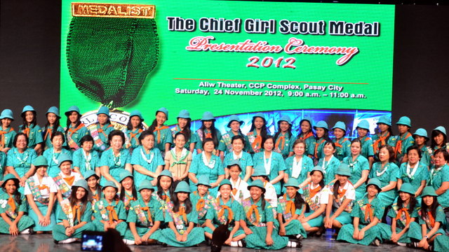 SUPER GIRLS. Chief Girl Scout Medalists from the Visayas Region
