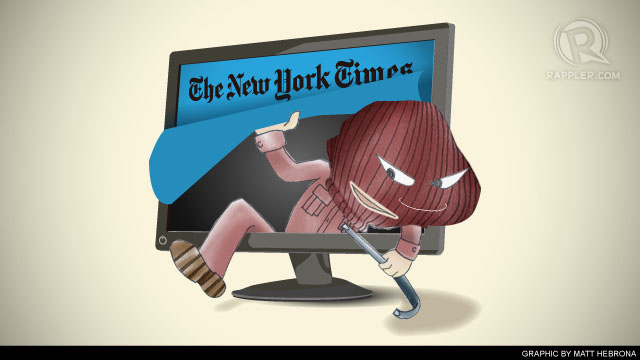 SECURITY COMPROMISED. The New York Times has revealed that Chinese hackers have been attacking its computer systems.
