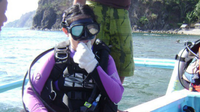 FIGHTING FOR THE DOLPHINS. Christel Lejano likes diving