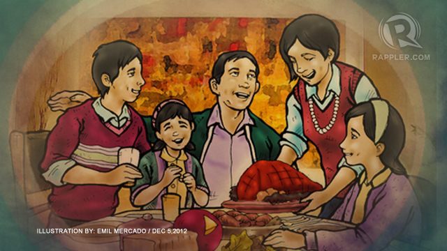 THE ESSENCE OF CELEBRATING CHRISTMAS. It differs for every family, in manner and reason. Image by Rappler