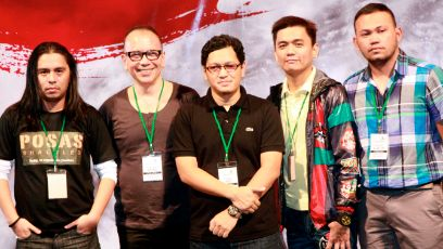 DIRECTORS' SHOWCASE. (From left) Lawrence Fajardo (Posas), Jose Javier Reyes (Mga Mumunting Lihim), Raymond Red (Kamera Obskura), Jun Robles Lana (Bwakaw) and Adolfo Alix Jr. (Kalayaan). Photo by Jude Bautista