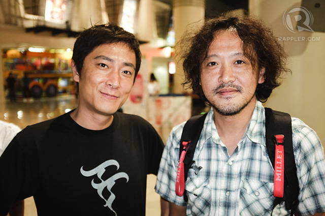 'Saudade' director Katsuya Tomita (left) with friend