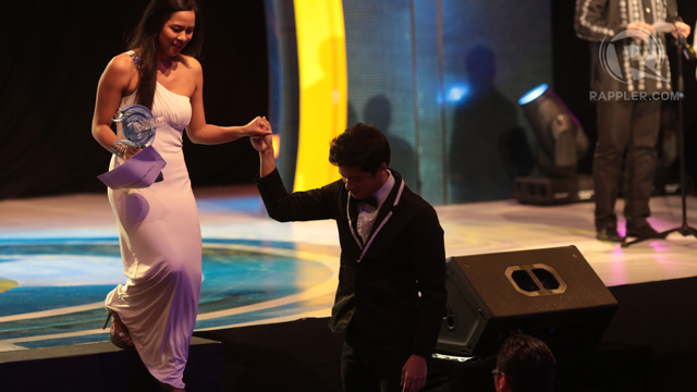 Mara Lopez and Alex Medina, Best Actress and Best Actor, for 'Palitan'