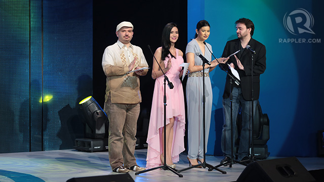 Paolo Bertolin, Erich Gonzales, Assunta de Rossi and Stephen Cremin present the final batch of awards