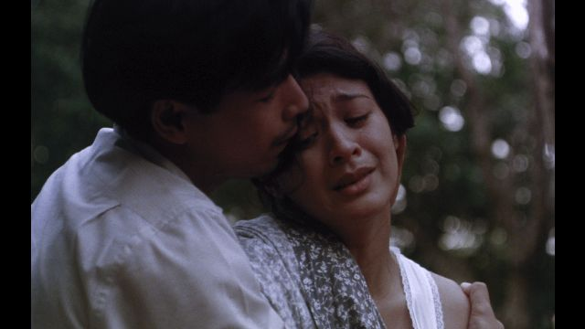 LANDMARK IN FILMMAKING HISTORY. 'Oro, Plata, Mata' launched the career of Joel Torre and showcased the acting prowess of a young Sandy Andolong. A frame from the movie's restored version courtesy of Cinema One