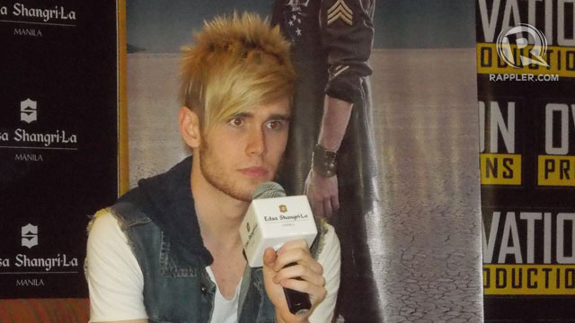 NOT INTO CHEESY SONGS. Yet Colton Dixon confesses, 'I can't watch a chick flick without crying.' All photos by Peter Imbong