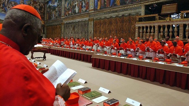 CARDINAL ELECTORS. Each of the 115 cardinal electors will recite an oath while casting the ballot. File photo from AFP