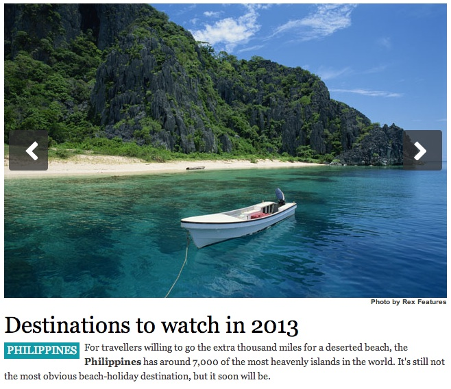 Screenshot of Conde Nast Traveller article