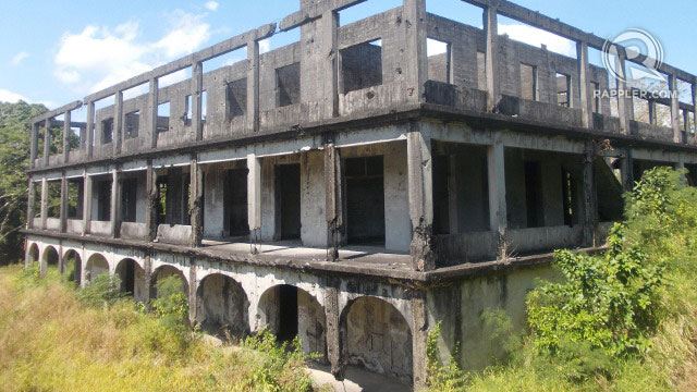 The ruins of the hospital where the 'special troops' stayed