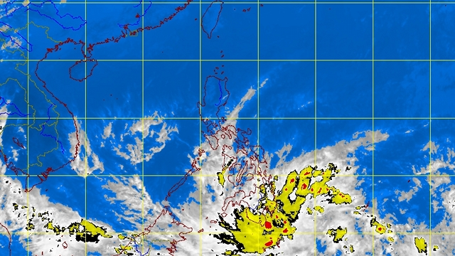STORM SIGNAL. The state weather bureau raises Signal No. 1 over tropical depression Crising. PAGASA satellite image as of 4:32 pm