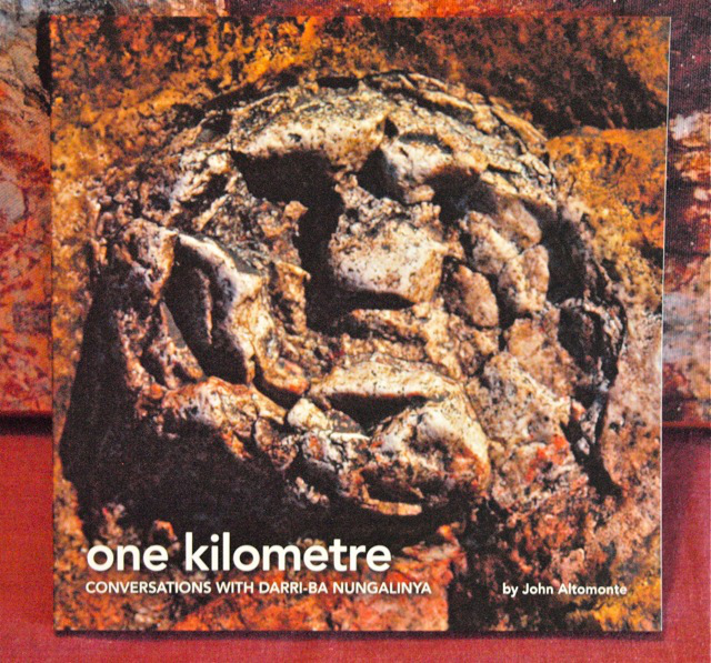 OLD MAN ROCK SPEAKS. The cover of John Altomonte's book, 'One Kilometre.' All photos courtesy of Sylvia L. Mayuga