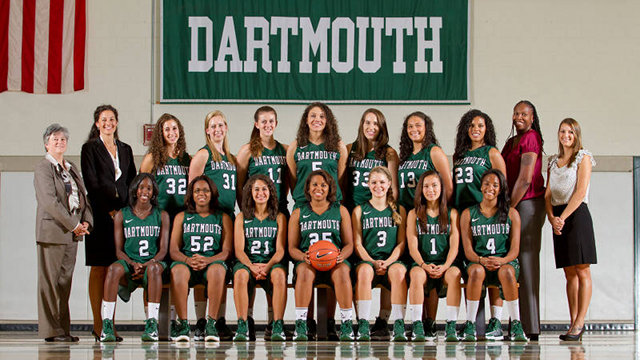 GOING FOR THE DREAM. Filipina Sofia Roman, first row, second from right plays for Dartmouth basketball and hopes to play in the WNBA. Photo from Dartmouth website.