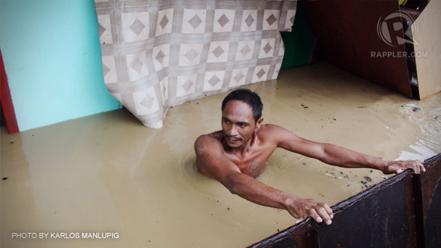 FLOODED CITY. Over 25,000 Davao City residents suffered due to flood last weekend. File photo by Karlos Manlupig