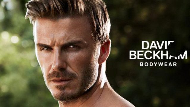 WITH OR WITHOUT CLOTHES. Soccer star David Beckham is 'well-dressed.' Image from the H and M Facebook page