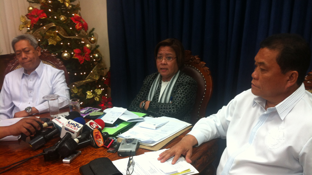 EVIDENCE SPEAKS. De Lima said evidence shows Pagadian City Mayor Samuel Co had a hand in the pyramid scam in Visayas and Mindanao.