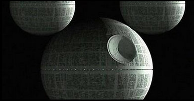 MICKEY DEATH STAR. Screengrab from Facebook 