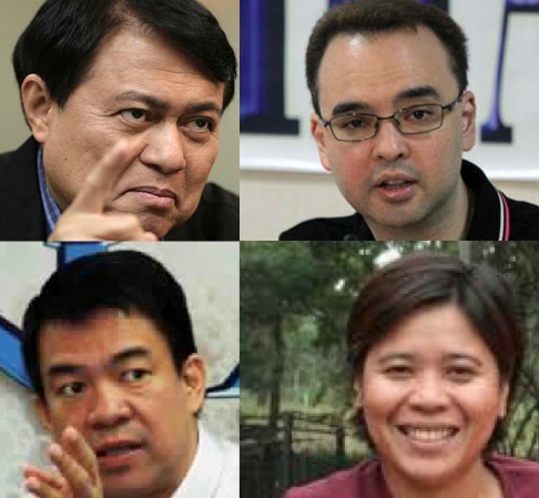 DE LIMA'S CLIENTS. Senators Manny Villar, Alan Peter Cayetano, Koko Pimentel and former Isabela Governor Grace Padaca were just some of the clients of then election lawyer Leila de Lima. File photos