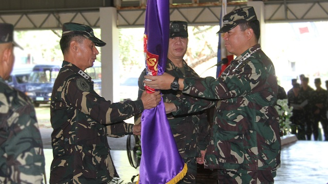 NEW POST: Lieutenant General Roy Deveraturda takes over Western Command. Photo from the Armed Forces of the Philippines