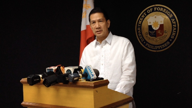 IT'S NOT HIM. DFA Spokesman Raul Hernandez confirmed the body previously identified as belonging to Filipino driver Florentino Santiago is actually that of a Syrian national who died in the Riyadh truck blast. Photo by Carlos Santamaria