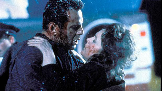 MESSY MATRIMONY. Bruce Willis and Bonnie Bedelia make for a bedraggled pair in 'Die Hard 2'